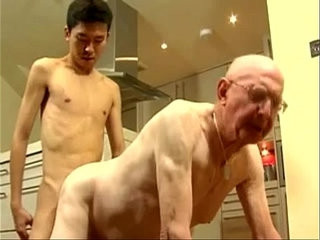 Skinny Asian Twink and White Grandpa | asian   oral   skinny   twinks   white