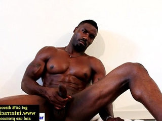Huge muscled ebony guy wanking off hard | black tv  ebony gay  hardcore  huge gay  muscular  wanking
