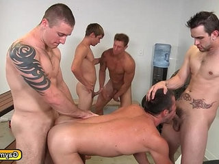 Gay group sex goes hard anal pounding asshole | asshole   gays tube   group film   hardcore   pounding