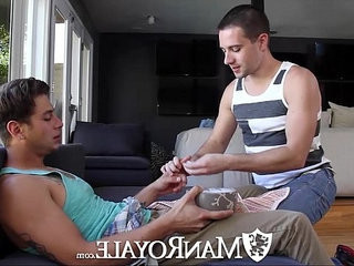 HD ManRoyale Cute guy needs his muscular friend for physical work | cute porn   friends   muscular   physicals   works male