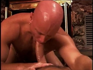 Bald muscular stud gets hot anal pounding | anal top   getting   muscular   pounding   stud